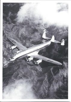 AIR FRANCE - LOCKHEED CONSTELLATION - F-BAZB - EN VOL/IN FLIGHT - CP NEUVE/NEW