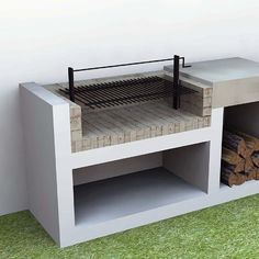 Small Outdoor Kitchens, Outdoor Barbeque, Outdoor Kitchen Patio, Outdoor Kitchen Design, Grill Gazebo, Balcony Grill, Outdoor Grill Station, Brick Bbq, Barbeque Design