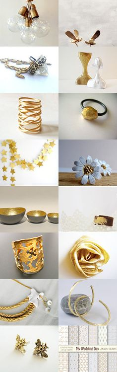 Gold finds! by Maria on Etsy--Pinned with TreasuryPin.com Gold, Etsy