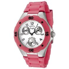 Invicta Women's 0706 Angel Collection Dark Pink Multi-Function Rubber Watch Invicta. Save 82 Off!. $69.95. Quality Japanese-quartz movement. White dial with luminous black hands and gun metal arabic numerals; dark pink unidirectional bezel. Flame fusion crystal; stainless steel case with dark pink rubber strap. Day, date and 60 second silver-tone subdials. Water-resistant to 99 feet (30 M)