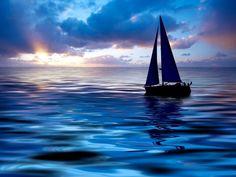 At peace, at sea
