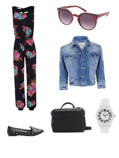 Travel day outfit.  Jumpsuits are comfortable for flying.  Swap floral for ethnic print