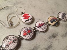 Items similar to Suzuki Samurai Bracelet and necklace combo / magnetic interchangeable jewelry on Etsy