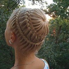 an amazing plait which involves both a dutch and French plait