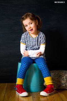 theblogbook | sewing | tunic with denim leggings, lillestoff