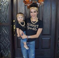 MOMMY AND ME Matching set Golden Sparkle by LolaandDarlaDesigns, $43.00