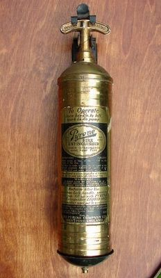 Pump Style Pyrene Fire Extinguisher C 1920's