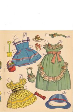 Big 'n' Easy Paper Dolls 'n' Clothes by Charlot Byi (5 of 8), Merrill #344210: Sandy & Candy