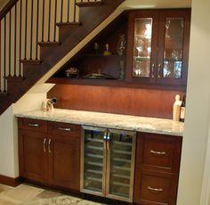 Home Bar Designs Under Stairs Ideas – Basement İdeas 2020 Under Basement Stairs, Under Staircase Ideas, Bar Under Stairs, Under Stairs Wine Cellar, Kitchen Under Stairs, Space Under Stairs, Basement Office, Basement Ceilings, Basement Bars