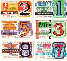 Vintage bus passes can be framed as hip retro art