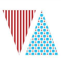 DR. SUESS INSPIRED PRINTABLE TRIANGLE BANNER