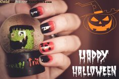 Happy Halloween everyone! Nails Inspiration, Happy Halloween, My Nails, 925 Silver, Elf, Swatch, Jewelry Rings, Nail Designs, Nail Polish