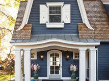 Lake Minnetonka Cottage - traditional - exterior - minneapolis - Hendel Homes, Rick & Amy Hendel Exterior House Colors, Exterior Design, Exterior Houses, Exterior Shutters, Exterior Paint, House Shutter Colors, House Shutters, Window Shutters, White Shutters