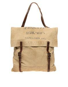 Ingrandisci Denim & Supply By Ralph Lauren - Borsa in tela con cinturini doppi
