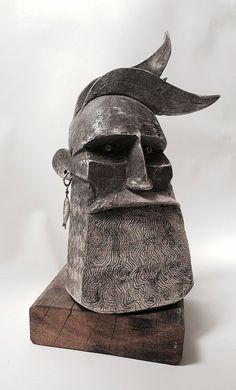 by Joe Lawrence - Kreativität - brood Sculpture Metal, Abstract Sculpture, Wood Carving Art, Stone Carving, Ceramic Pottery, Ceramic Art, Arte Tribal, Sculptures Céramiques, Wooden Art