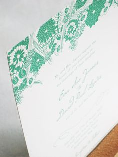 Two-Brunettes-Wedding-Invitation-Green