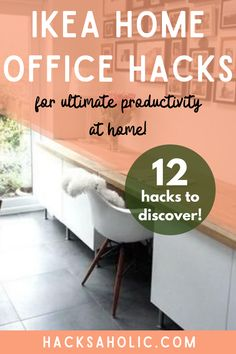 You might be working from home a lot more now. Here are some great Ikea home office hacks that will help you create the perfect work space. #ikeahomeofficehacks #homeofficeideas #ikeahack Ikea Furniture Hacks, Ikea Hacks, Ikea Home Office, Office Hacks, Best Ikea, Kallax, Malm, Space, Create