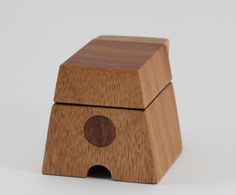 Wooden Ring Box made from Queensland Maple in the shape of a letter 'A'. Great for Wedding/Engagement Rings. by TheWarawoodShed on Etsy