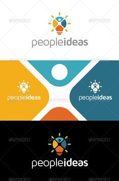 People Ideas Logo — Vector EPS #ideas #creativity • Available here → https://graphicriver.net/item/people-ideas-logo/8057443?ref=pxcr