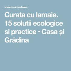 Curata cu lamaie. 15 solutii ecologice si practice • Casa și Grădina