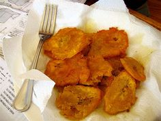 One of my favorite foods from Puerto Rico! Tostones.