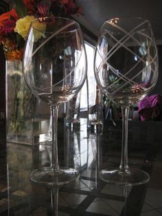 Glass etching -- takes only glass, masking tape, paint brush and etching solution