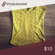 pretty gold lace top top Tops Tees - Short Sleeve