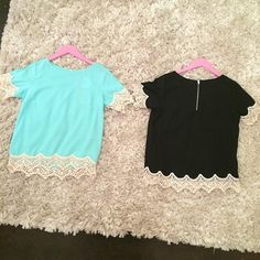 Sassy & Classy Top. Mint for the day, and black for the night