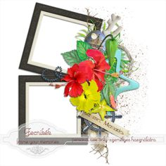 Scrapbooking TammyTags -- TT - Designer - Fecnikek, TT - Item - Frame, TT - Style - Cluster, TT - Theme - Summer or Beach