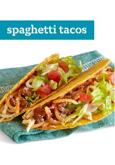 Spaghetti Tacos – Two classics combine in this recipe, but it takes just 30 minutes to have this delicious dish dinner table-ready! Double the flavor, half the time.