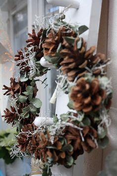 Pinecone and Eucalyptus wreath!