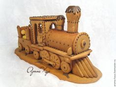 Pic only! Gingerbread Train, Christmas Gingerbread House, Gingerbread Cookies, Gingerbread Houses, Christmas Food Gifts, Christmas Baking, Christmas Cookies, Graham Cracker House, Biscuit Decoration