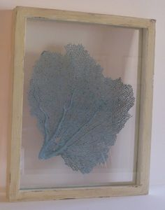 Distressed Framed Blue Sea Fan  - like the mix of real sealife and distressed frames! $250.00