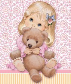 R Morehead - little girl with teddy