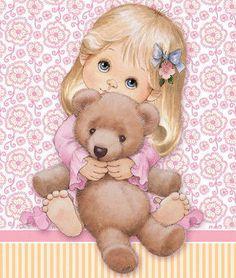 R Morehead - little girl with teddy