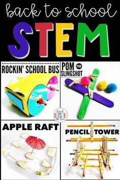 Four LOW PREP Back to School STEM Challenges for Elementary Students | STEM Activities for August and September