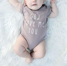 The perfect baby shower or new birth gift, this cotton onesie is a comfortable and cute outfit for that special little miracle in your life! ***Since all items are hand-printed to order, I am currentl Future Life, Future Baby, Little Babies, Little Ones, Cute Babies, Do It Yourself Baby, Foto Baby, Baby Shower, Everything Baby