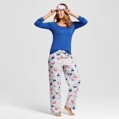 Nite Nite Munki Munki Women's Pajama Set Fa La La Llamas Print Navy Pajama Set, Pajama Pants, Llama Print, Sleepwear Women, Women's Sleepwear, Womens Pyjama Sets, Llama Alpaca, Pjs, Nightwear