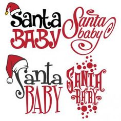 Santa Baby Pack Cuttable Design Cut File. Vector, Clipart, Digital Scrapbooking Download, Available in JPEG, PDF, EPS, DXF and SVG. Works with Cricut, Design Space, Sure Cuts A Lot, Make the Cut!, Inkscape, CorelDraw, Adobe Illustrator, Silhouette Cameo, Brother ScanNCut and other compatible software. To Celebrate the Holiday Christmas Season.