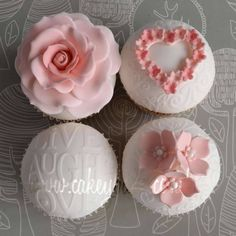 Indian Weddings Inspirations. Pink wedding cupcakes. Repinned by #indianweddingsmag #bakery indianweddingsmag.com