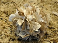 Burlap and Muslin Ball Ornament Tutorial  by Serendipity Refined