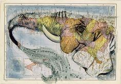 Fernando Vincente, a Madrid-based painter and illustrator, collects old maps and atlases from flea markets and then paints on them, imagining new continents and figures in the same few strokes. Atlas   iGNANT.de