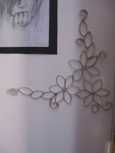 This is my next reduce/reuse/recycle project...so easy, and painted black, looks just like wrought iron!!!!