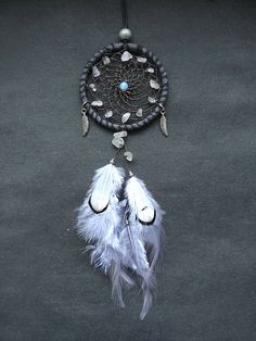 Small dreamcatcher car charm rear view mirror by DeiDreamCatchers