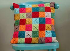 Nana Square Crochet Cushion by AnnieDesign, via Flickr