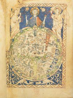 Mapa del Mundo Salterio, Año 1260
