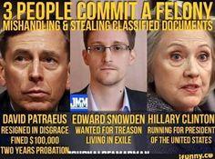 David Petraus, Edward Snowden, Hillary Clinton #hillaryclinton #hillary2016