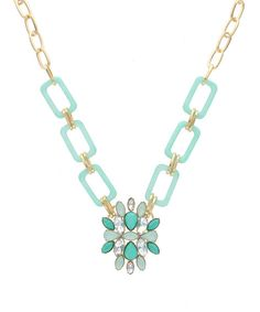 Another great find on #zulily! Gold & Mint Rectangle Linked Pendant Necklace by Sparkling Sage #zulilyfinds