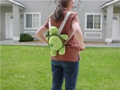 Cute! How to make a stuffed animal backpack http://www.embroidery.com/help.asp?docid=2781 Loooove it! always have