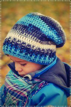 bandorka: Háčkovaná homelesska Crochet Baby Hats, Knitted Hats, Knit Crochet, Knitting For Kids, Crochet For Kids, Kids Wear, Crochet Projects, Crochet Patterns, Winter Hats